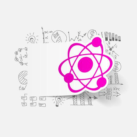 Drawing business formulas: atom Vector