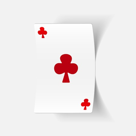 realistic design element: playing card