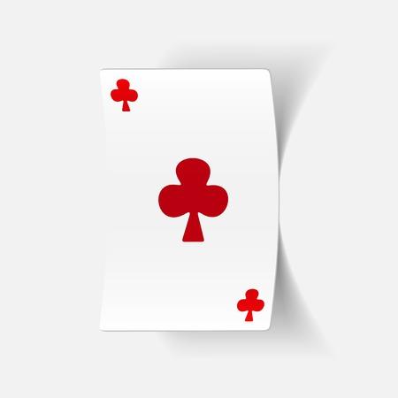 realistische ontwerp element: speelkaart