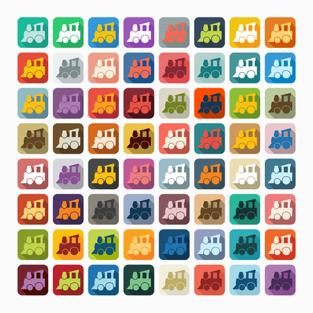 kunststoff rohr: Flache Bauweise: Kinder Zug Illustration