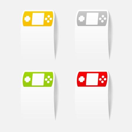 realistic design element: joystick Vector