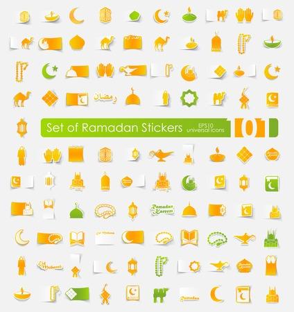 Set of ramadan stickers