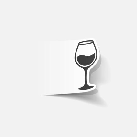 winy: realistic design element: wineglass