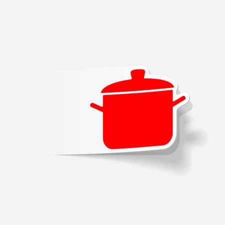 saucepan: realistic design element: saucepan Illustration