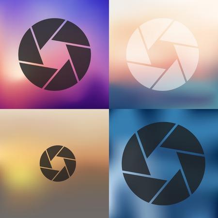 fixer: photo icon on blurred background Illustration