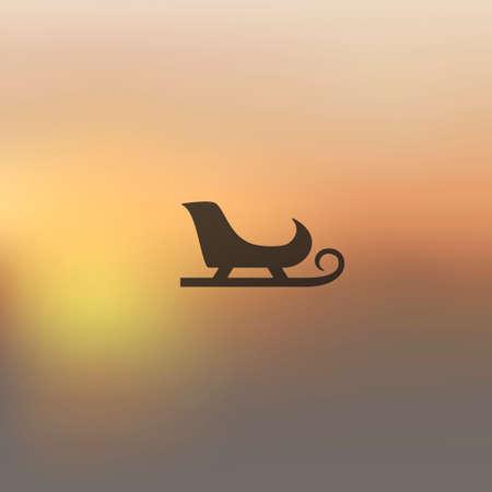 skids: sledge icon on blurred background Illustration