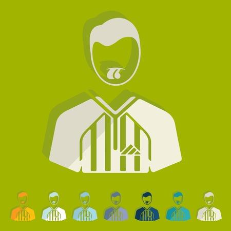 trill: Flat design: referee