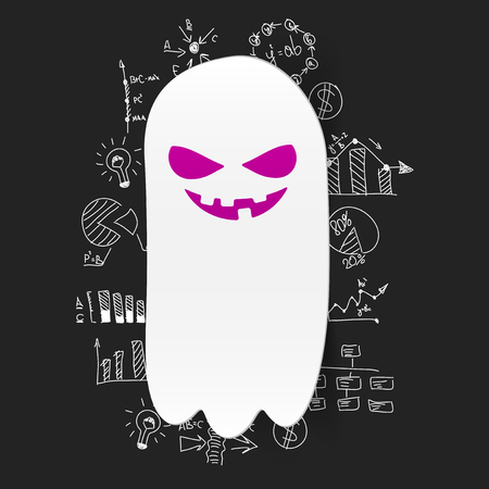 Drawing business formulas: monster Vector