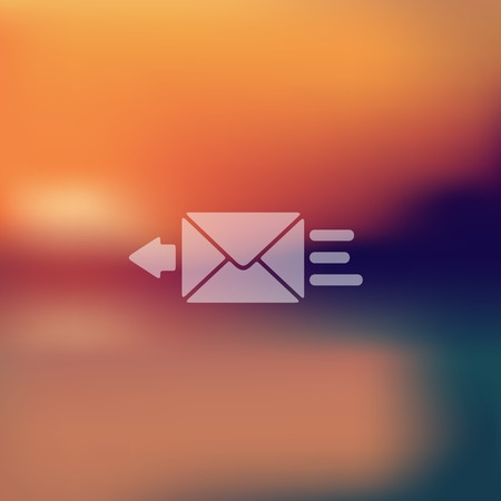 registered mail: envelope icon on blurred background Illustration