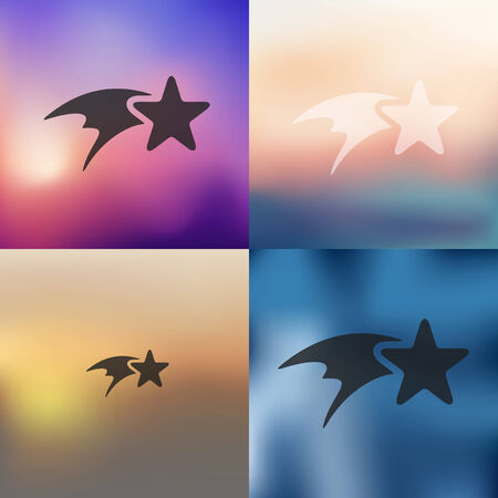 christmas star icon on blurred background Illustration