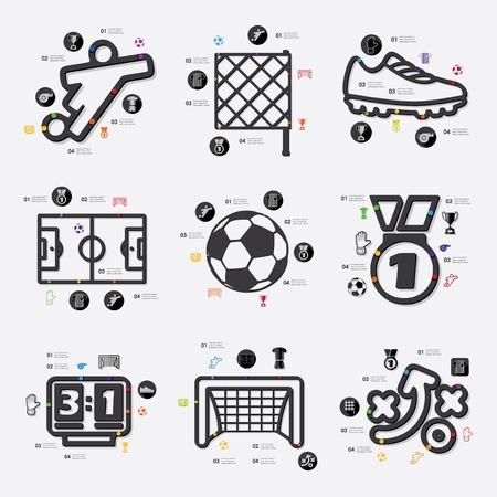 offside: football infographic Illustration