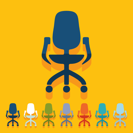 leather goods: Flat design: office chair Illustration