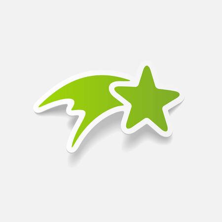 realistic design element: christmas star