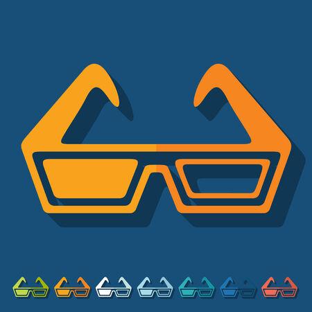 3d glasses: Flat design: 3d glasses Illustration