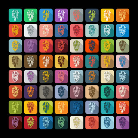 soleness: Flat design: fingerprint Illustration