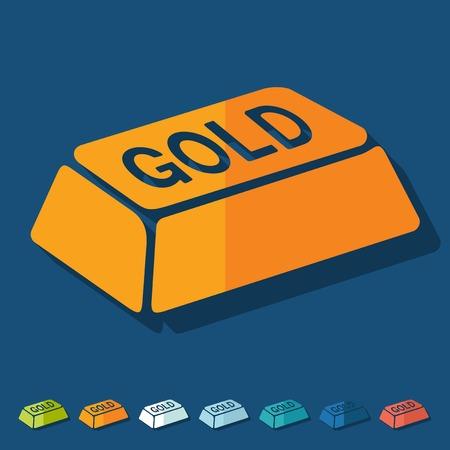 lingot or: Design plat: des lingots d'or