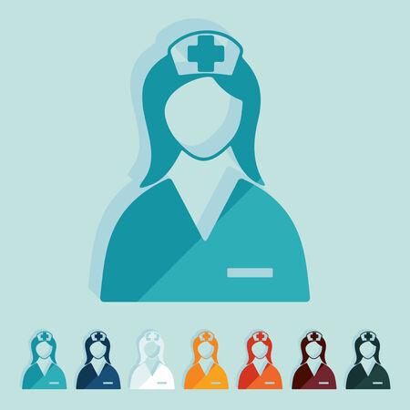 professionalism: Flat design: nurse