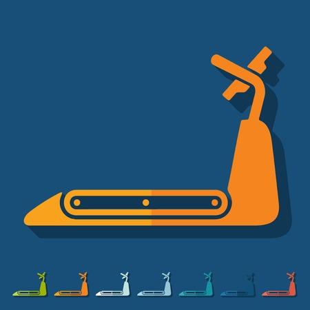 Flat design: treadmill Vector