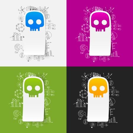 Drawing business formulas: skull Vector
