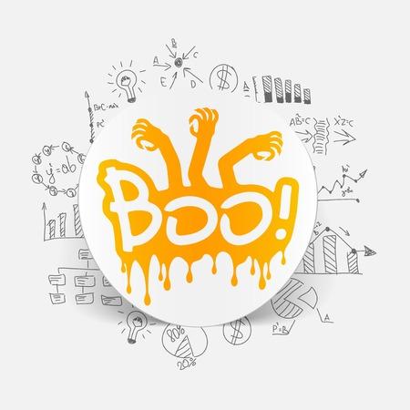 Drawing business formulas: boo Vector