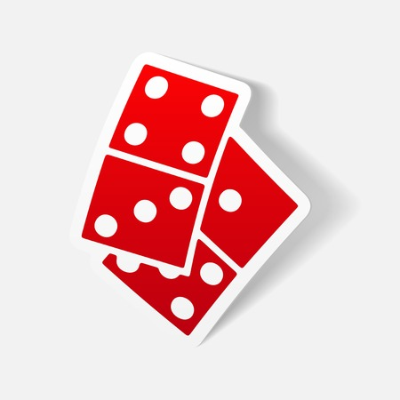 new rules: realistic design element: domino Illustration
