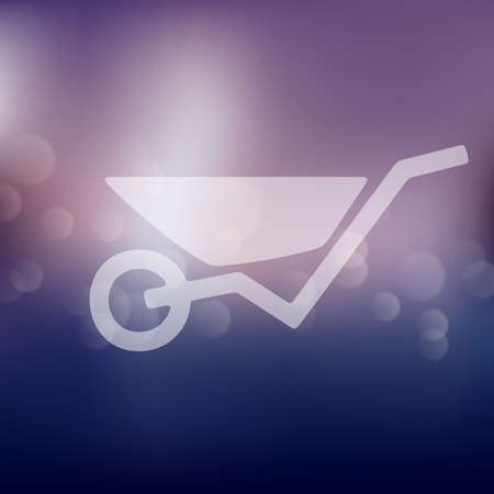 outdoor goods: wheelbarrow icon on blurred background