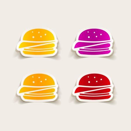 flavored: realistic design element: sandwich Illustration