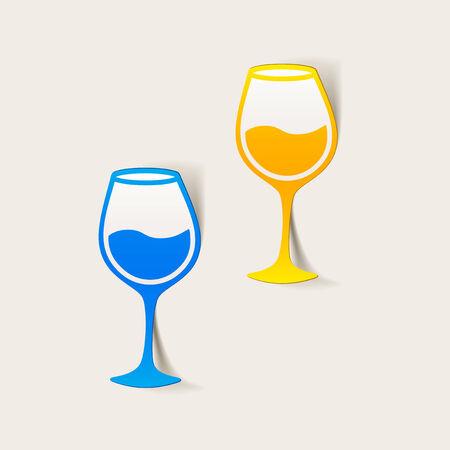 realistico elemento di design: il bicchiere di vino