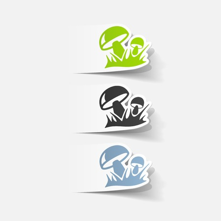 realistic design element: mushrooms