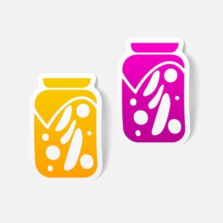 pickle: realistic design element: pickled vegetables Illustration