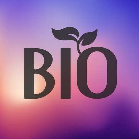 environmental analysis: bio sign icon on blurred background