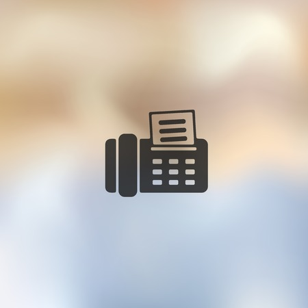 telephonic: fax icon on blurred background Illustration