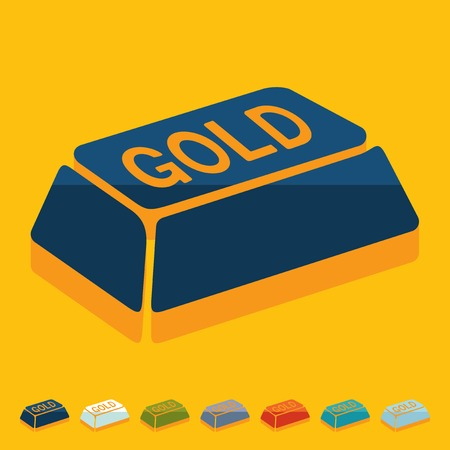 repository: Flat design: bullion gold