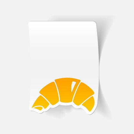 flavored: realistic design element: croissant Illustration