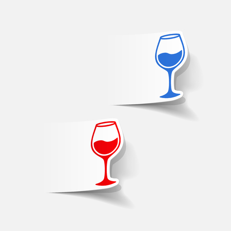 sweetness: realistic design element: wineglass