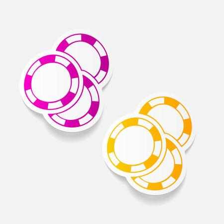 fichas de casino: realista elemento de dise�o: fichas de casino Vectores