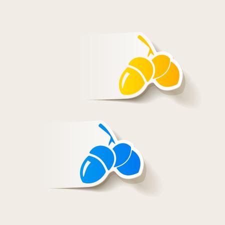 acorns: realistic design element: acorns Illustration