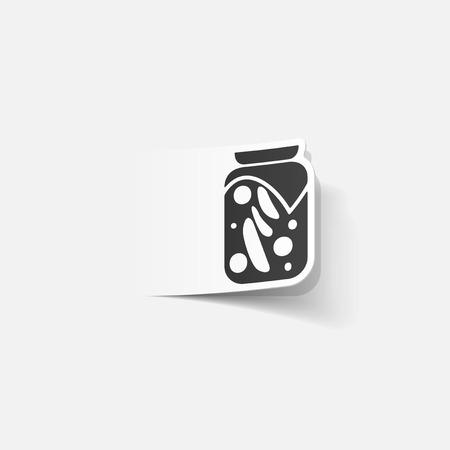 realistic design element: pickled vegetables Reklamní fotografie - 35147527