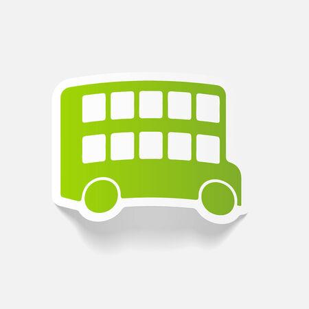 decker: realistic design element: bus double decker