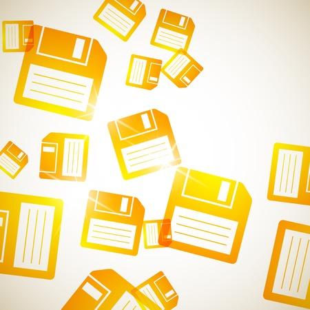 floppy: abstract background: floppy Illustration