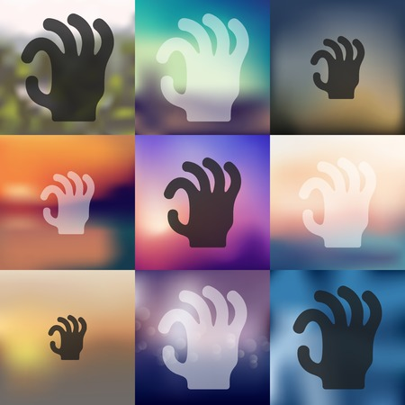 hand icon on blurred background Vector
