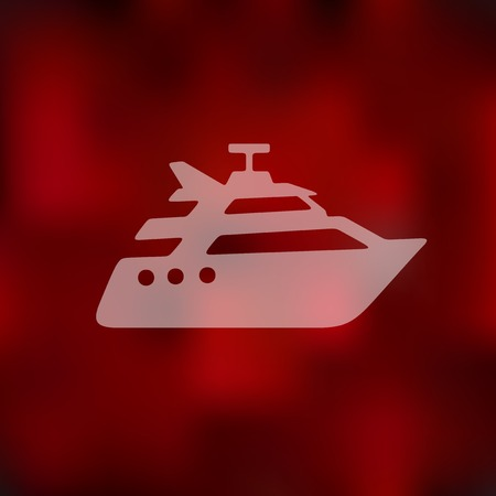 yacht icon on blurred background Illustration
