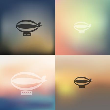luftschiff: Luftschiff-Symbol auf unscharfen Hintergrund