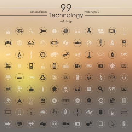 modernization: Set of technology icons Illustration