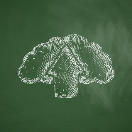 precipitation: cloud icon Illustration