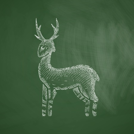 lithography: deer icon
