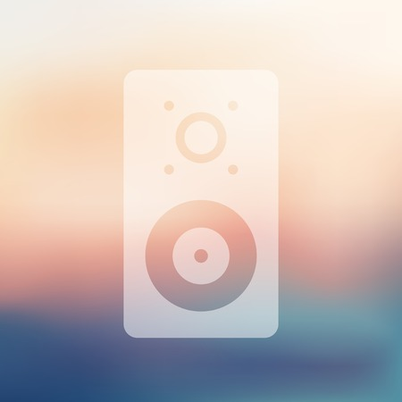sounding: dynamic icon on blurred background