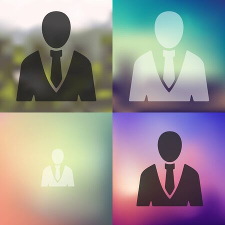 office people: office people icon on blurred background