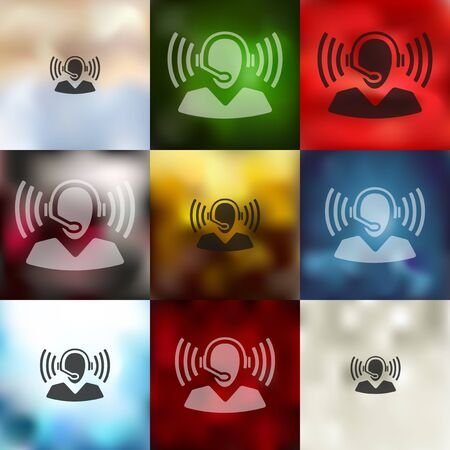 magic hour: call center icon on blurred background