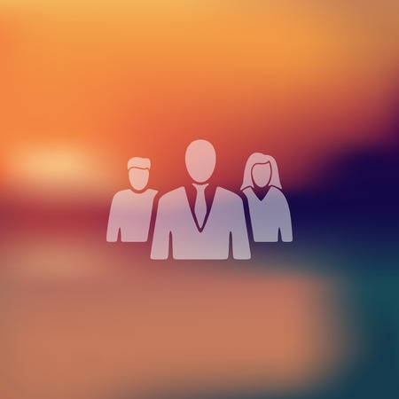 urbanization: business people icon on blurred background